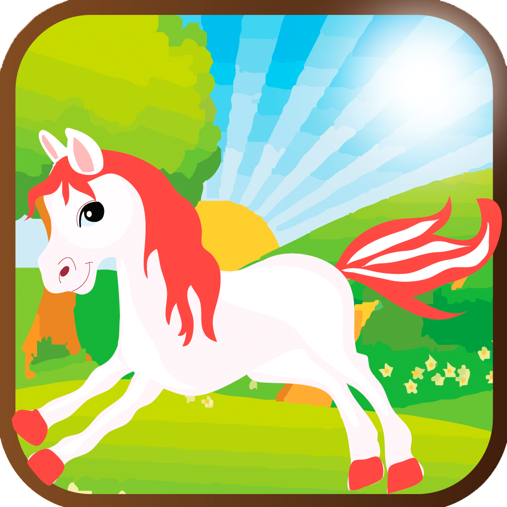 Cute Little Pony Run Game Free - Funny and addictive adventure of baby horse for Kids